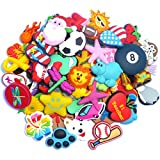 Lot of 100 Pcs PVC Different Shoe Charms for