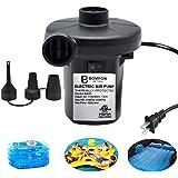 BOMPOW Electric Air Pump for Inflatables Air Mattress Pump Air Bed Pool Toy Raft Boat Quick Electric Air Pump Black (AC Pump(