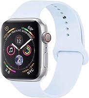 YANCH 兼容蘋果手表腕帶 38mm 42mm 40mm 44mm,軟硅膠運動表帶替換腕帶,適用于 iWatch 系列 4/3/2/1,Nike+,運動版