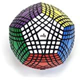 Ting-W® MF8 Abnormity Speed Cube 12 Faces 7 Layers Magic Plastic Cube 7x7 Speed Twist Polyhedron Puzzle Cube Toy Black Megaminx