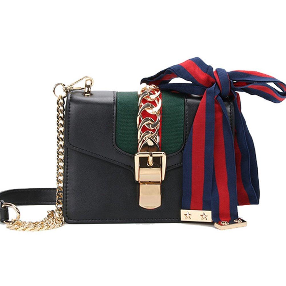 Small Size 7.8  Black YesMacton Macton cowskin Genuine Leather Women Cross Body Bag MC-9008
