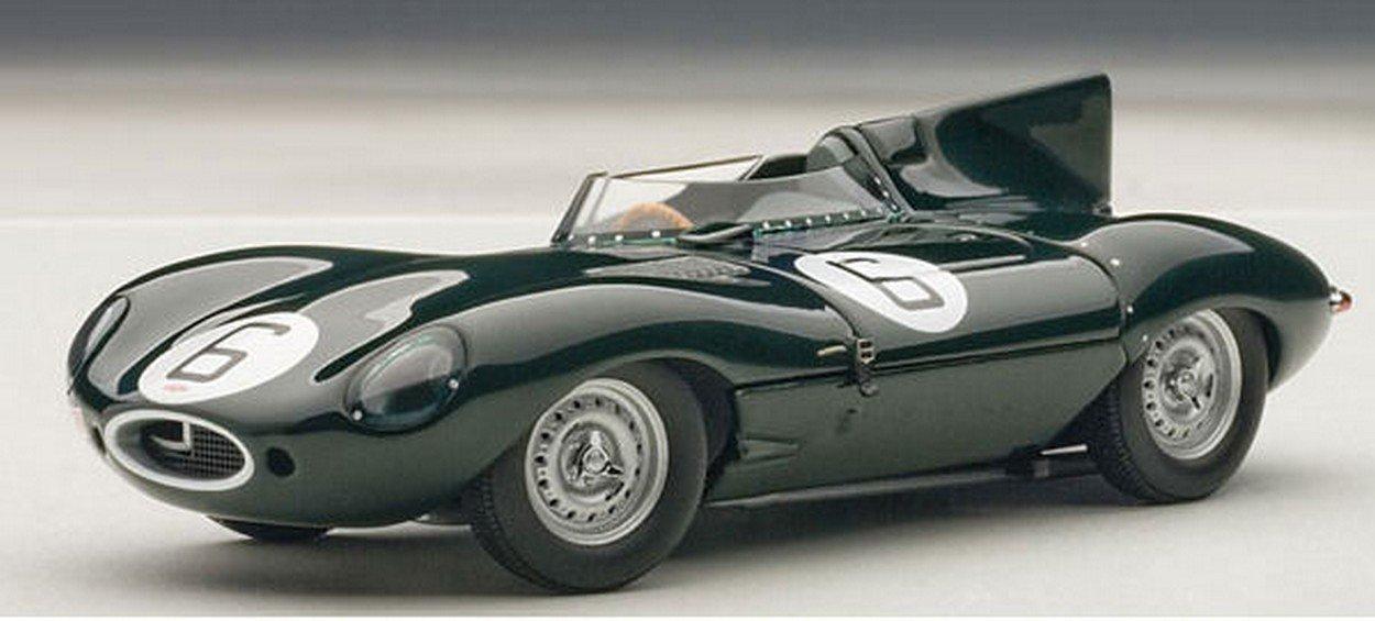 AUTOART AA65586 Jaguar D-Type N.6 Le Uomo 1955 Hawthorn-BUEB 1 43 Model Die Cast
