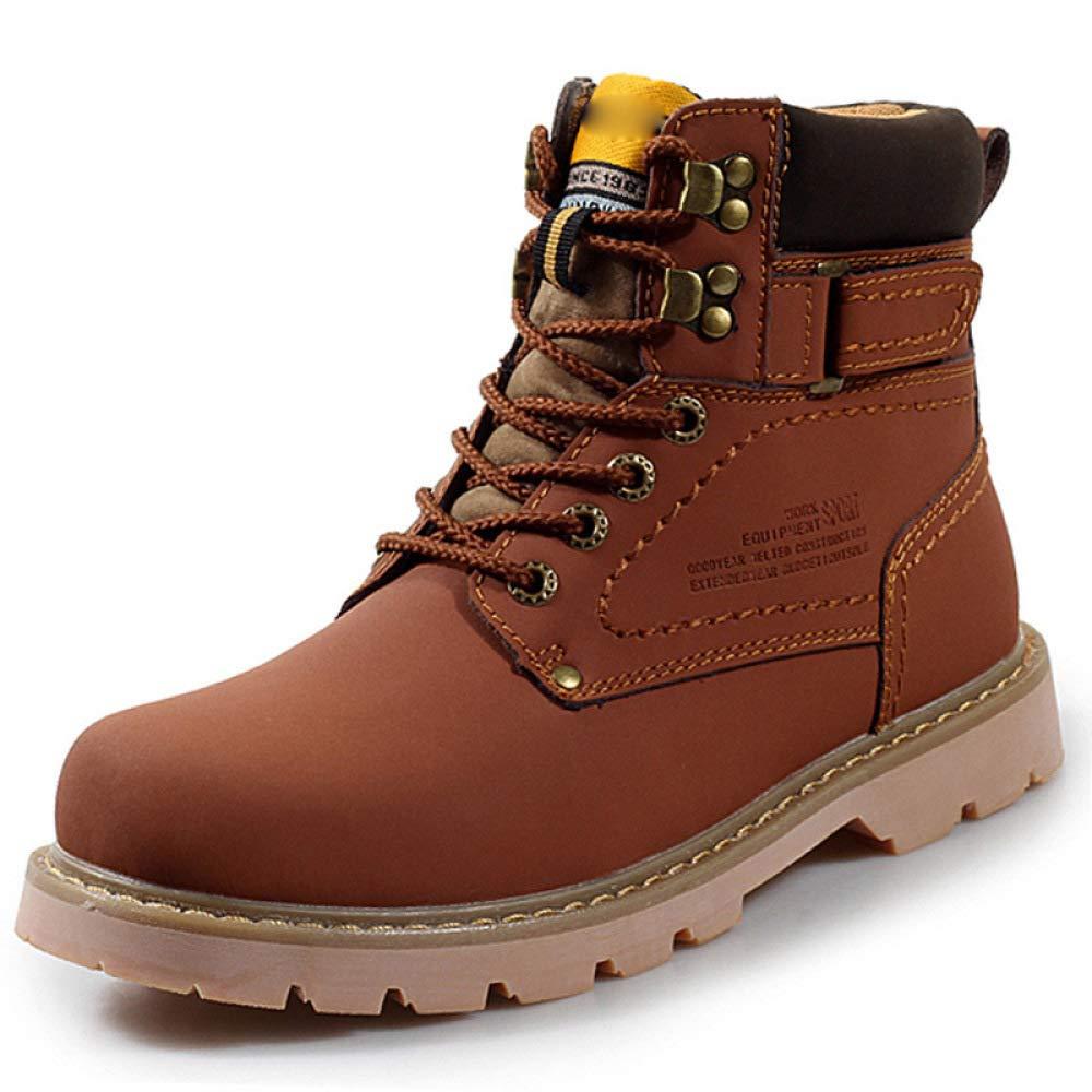 HWG-GAOYZ Schuhe Herren Stiefel Martin Herbst Und Winter Im Freien Warme Kurze Rohr Baumwollstiefel Rutschfeste Mode,rotdishbraun(A)-40
