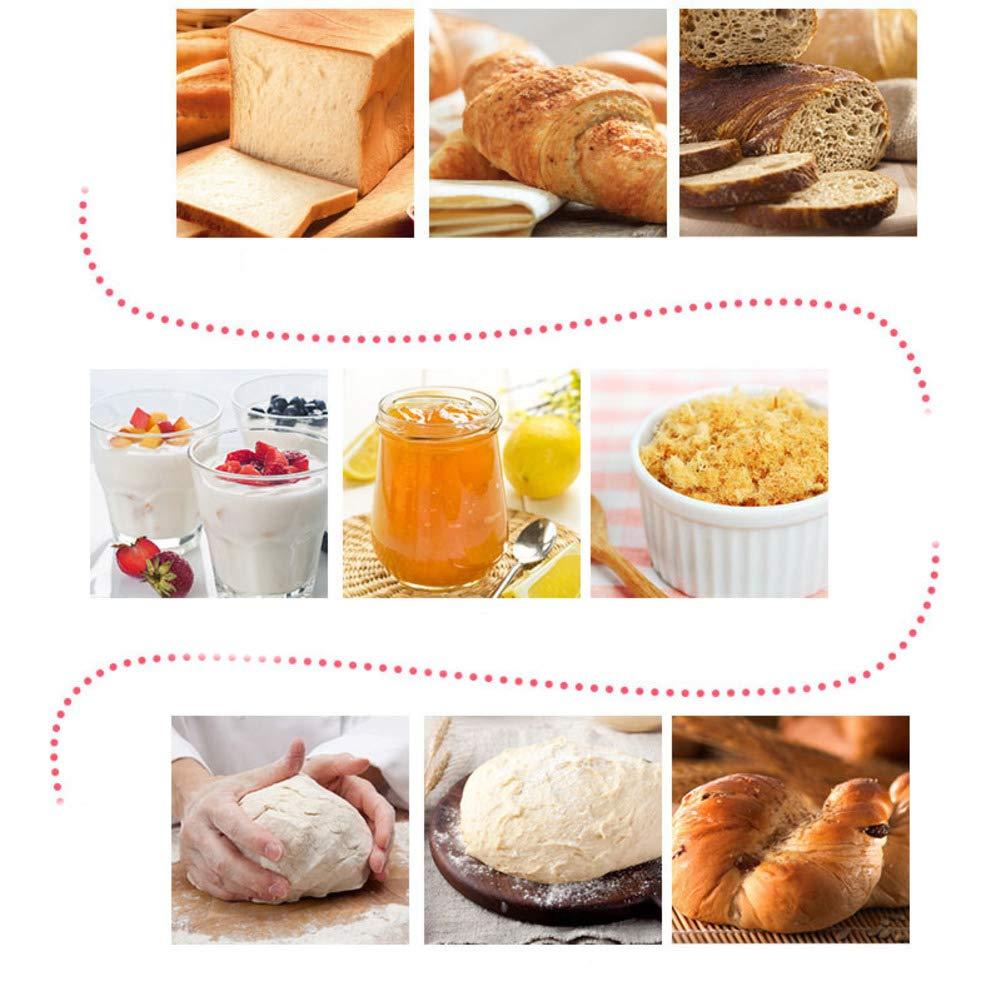 Maquina para hacer pan, Automático Dispensador de frutas y tuercas Máquina para hornear pan, Amasar la masa, Capacidad de libras 2, Temporizador de retardo, ...