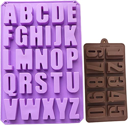26-Cavity 26 Alphabet Biscuit Chocolate Mould Mousse Cake Dessert Baking Tool