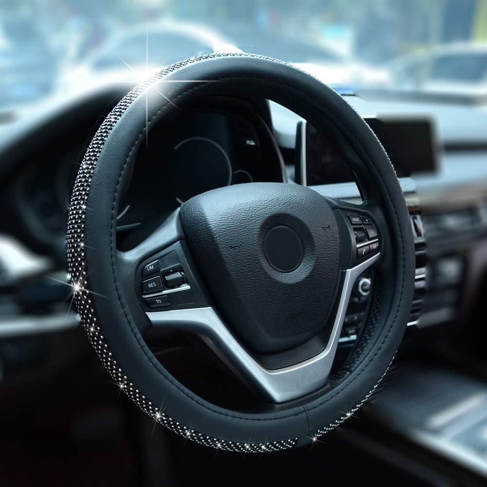 Alusbell Crystal Diamond Steering Wheel Cover for Women
