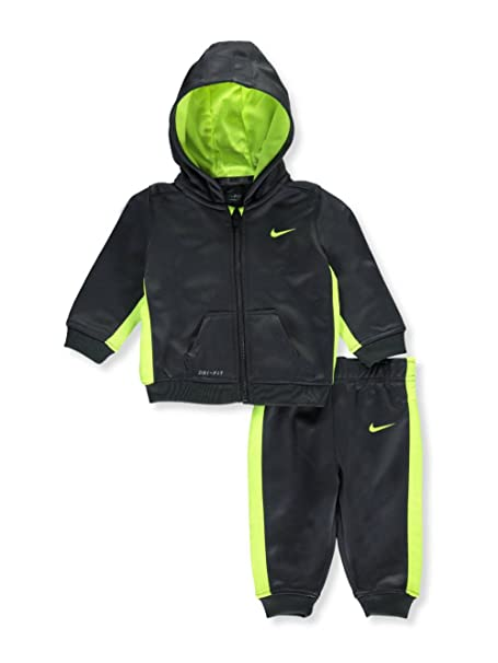 cfe16728b NIKE Baby Boys' 2-Piece Dri-Fit Therma Tracksuit - Anthracite/Volt