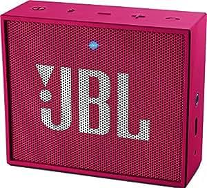 JBL Go - Altavoz portátil para smartphones, tablets y dispositivos MP3(3 W, Bluetooth, recargable, AUX, 5 horas), color rosa