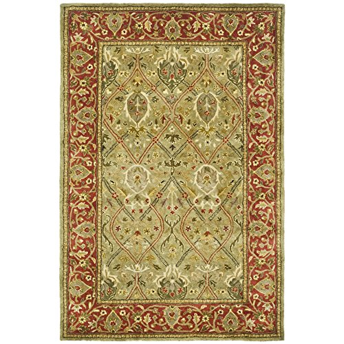 Safavieh Persian Legend Collection PL819B Handmade Traditional Light Green and Rust Wool Area Rug (5