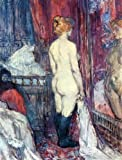 "18"" x 24"" Henri De Toulouse-Lautrec Nude Standing before a Mirror premium canvas print reproduced to meet museum quality standards. Our Museum quality canvas prints are produced using high-precision print technology for a more accurate reproduction p..."