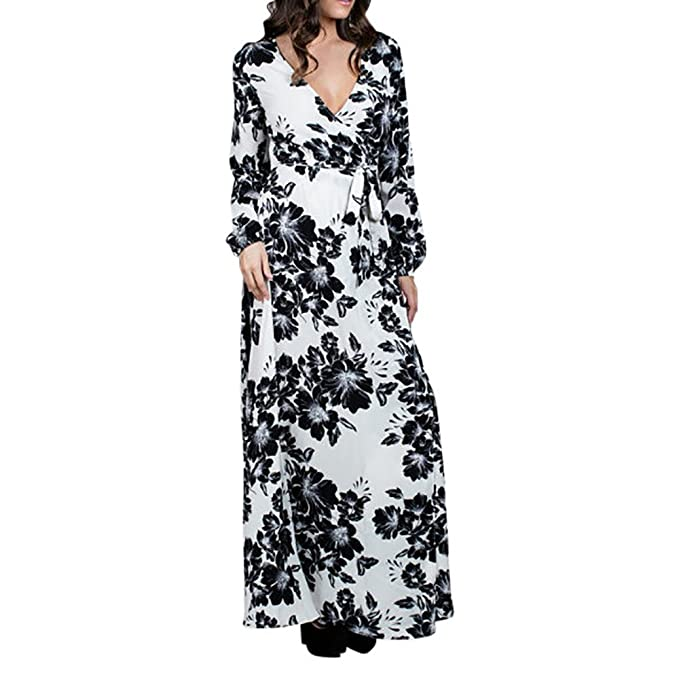 33d421e86fc The Luxe Mode Blossom Wrap Maxi Dress (Misses) at Amazon Women s Clothing  store