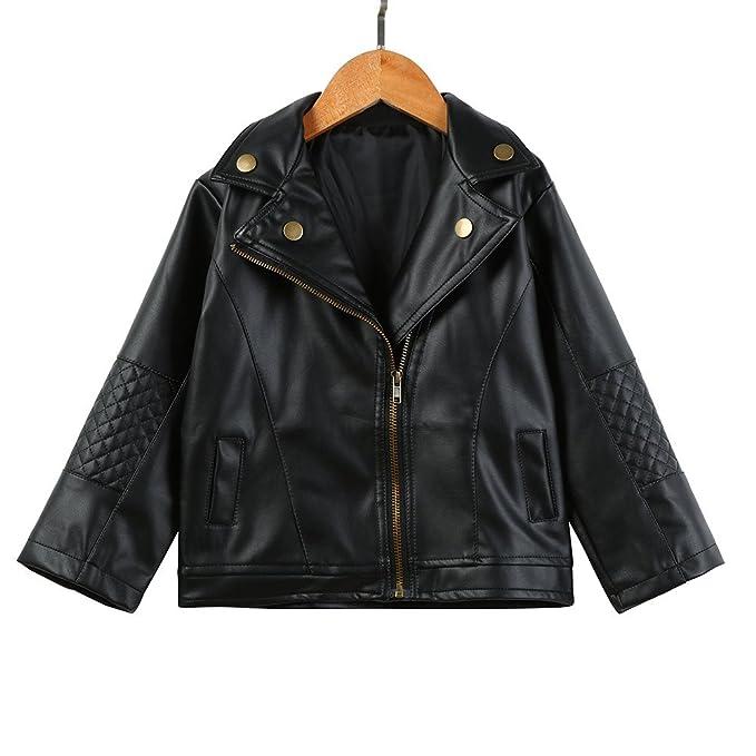 67a313da3130 Iuhan Autumn Winter Girl Boy Kids Baby Outwear Black Leather Coat ...
