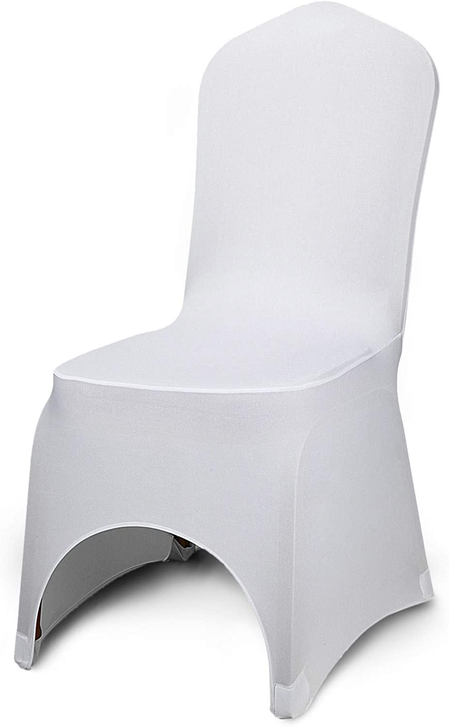 VEVOR 150 PCS White Chair Covers Polyester Spandex Chair Cover Stretch Slipcovers for Wedding Party Dining Banquet Chair Decoration Covers