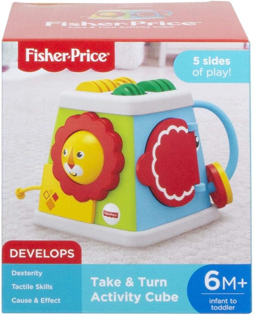 jouet d/éveil pour b/éb/é Fisher-Price Cube dActivit/és /à 5 c/ôt/és 6 mois et plus FYK64
