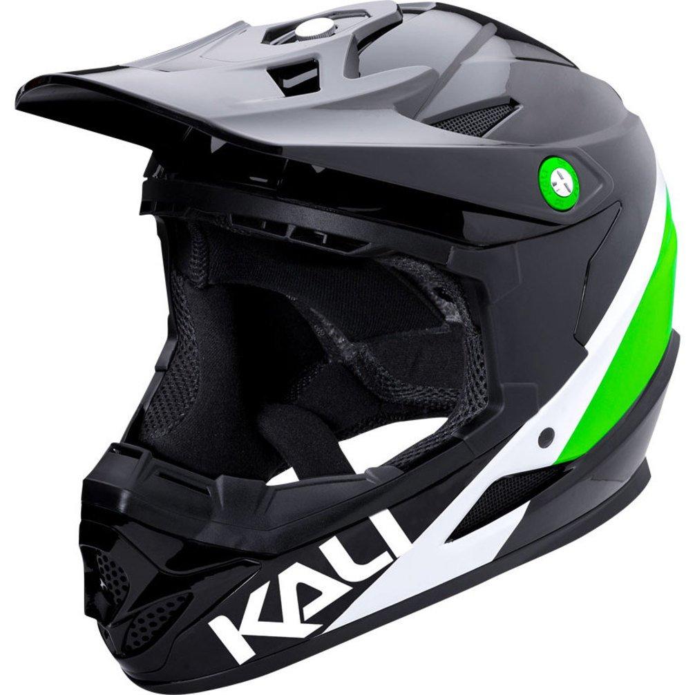Kali Protectives 0210618137 BMX-Helm – Integralhelm Unisex Erwachsene, schwarz lime, Größe  L