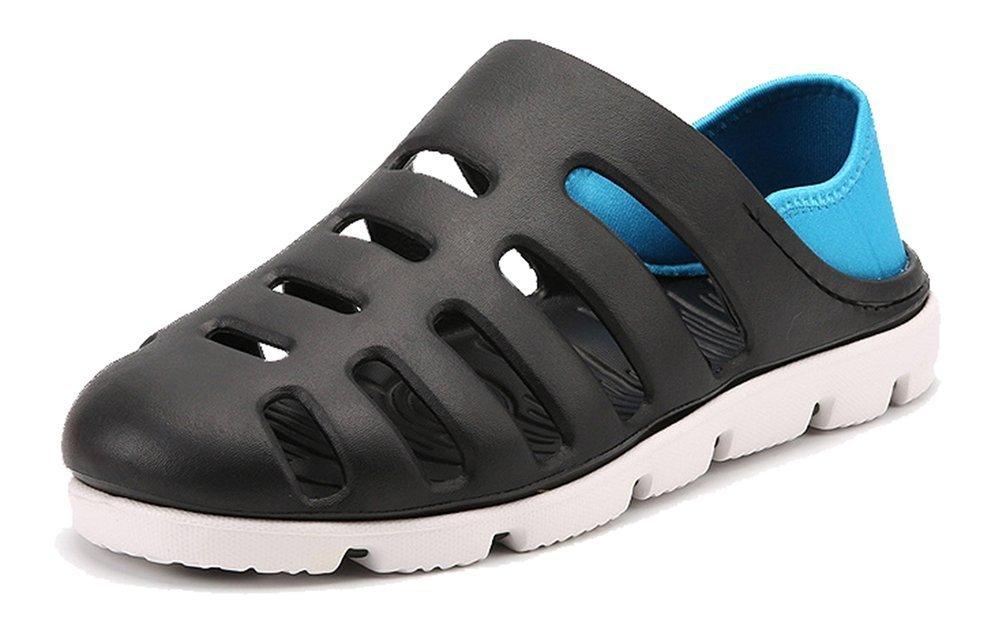 Femaroly Slippers Men Summer Close Toe Sandals Boys Beach Shoes Black 9.5M