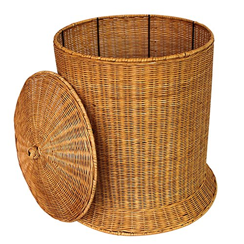 YZL/ Rattan woven hamper dirty clothes storage/laundry basket/baskets/finish storage/laundry basket/dirty barrel basket , yellow