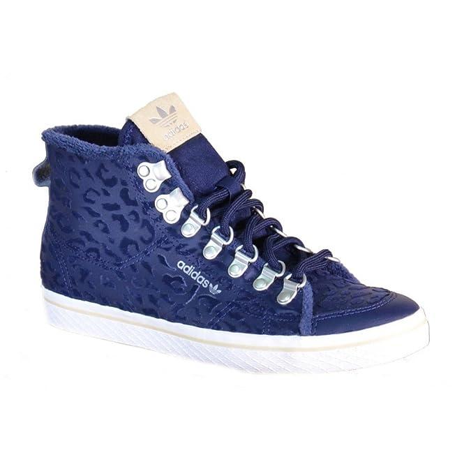Adidas Honey Hook W Scarpe Sportive Alte Donna Blu Pelle S77425