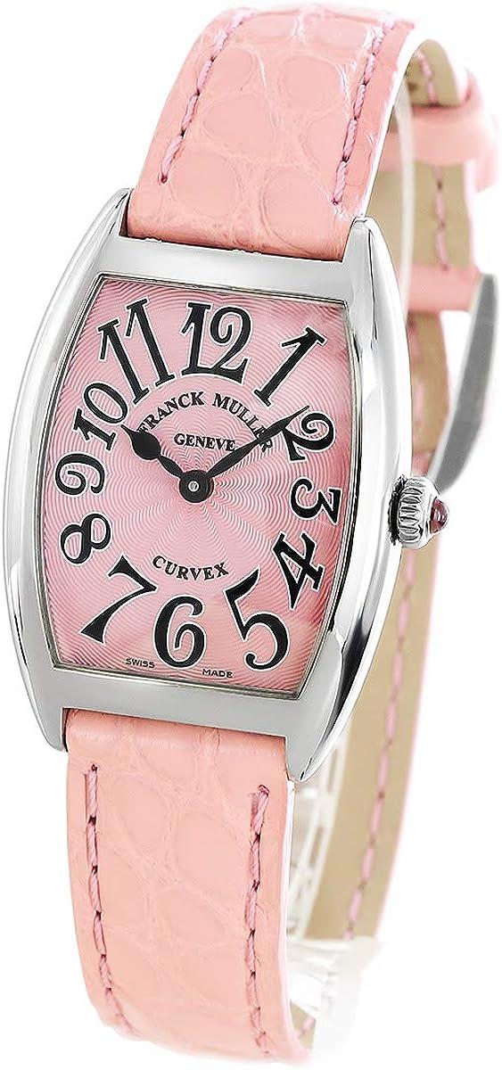 フランクミュラー トノーカーベックス クロコレザー 腕時計 レディース FRANCK MULLER 1752 B QZ [FM1752QZSSPKLZPK][並行輸入品]