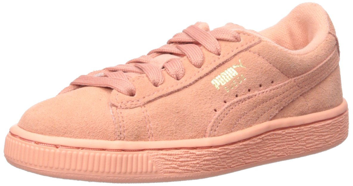 PUMA Suede JR Classic Kids Sneaker (Little Kid/Big Kid) B012ZKC550 5.5 M US Big Kid|Desert Flower/Desert Flower