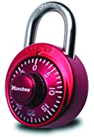 Master Lock Padlock, Standard Dial Combination Lock, 1-7/8 in. Wide, Assorted Colors, 1530DCM