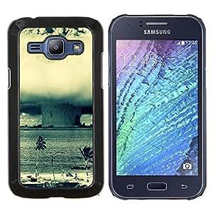 TECHCASE---Cubierta de la caja de protección para la piel dura ** Samsung Galaxy J1 J100 ** --Enorme Tornado Huracán