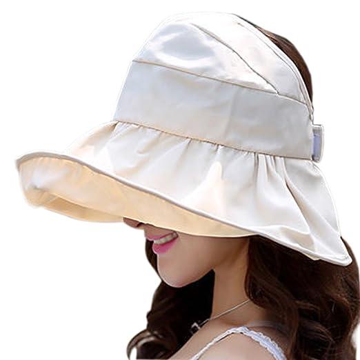19d6e27b862 X Shop Fashion Women s Sun Visor Foldable Roll Up Sun Cap  Beige  at ...