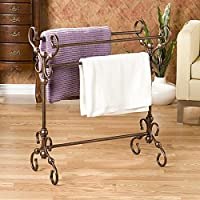 Upton Home Everton Antique Bronze Finish Quilt and Blanket Rack, Material: Bronze, Metal
