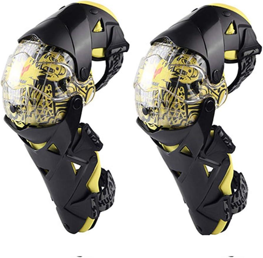 Rodilleras de Moto Equipo Protector de Ciclismo A Prueba de Viento Anti Choques Protección de Rodilla Protector de Rodilla de Motocross para Esquí Carreras, 1 Par