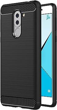 AICEK Funda Honor 6X, Huawei Honor 6X Funda Negro Gel de ...