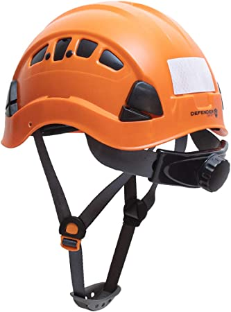 Defender Safety H1-CH Safety Helmet Hard Hat ANSI Z89.1 for Construction White