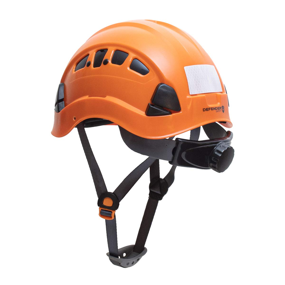 Defender Safety H1-CH Construction ANSI Z89.1 Chin Strap Safety Helmet Hard Hat (ORANGE)
