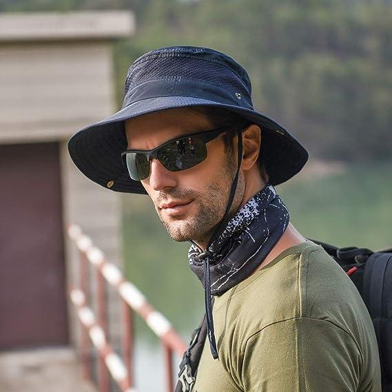 Sombrero de Pescador al Aire Libre montañismo Sombrero Hombres ...