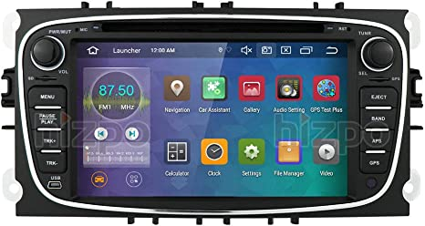 Android 10 Car Navigation 7 Inch Mirror-Link WiFi 4G DSP Supports Bluetooth Steering Wheel Control For Focus Car Stereo Fit for Ford Mondeo Ford Focus Ford S-max Ford C-max Ford Galaxy Silver