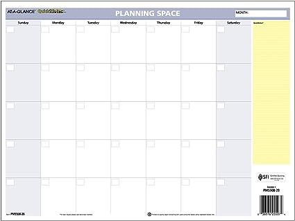 AT-A-GLANCE calendario de pared 2017, borrable mensual/anual, reversible, QuickNotes, 16 x 12
