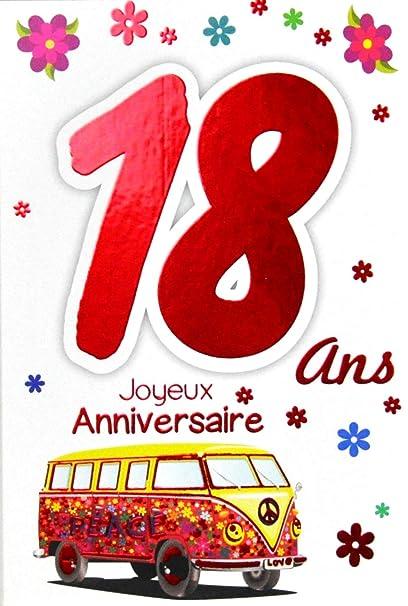 Afie 69 2119 Carte Joyeux Anniversaire 18 Ans Fille Jeune
