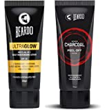 Beardo Activated Charcoal Peel Off Mask (100gm) and Beardo Ultraglow All in 1 Men's Face Lotion (100gm)