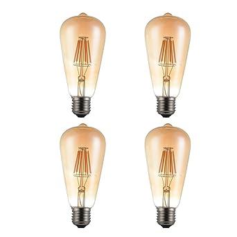 St64 Filament E27 4 Led kingcoo De Ampoule Décorative Vintage Paquet E2IW9DH