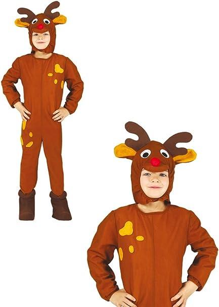 Disfraz de reno infantil 10-12 años: Amazon.es: Ropa y accesorios