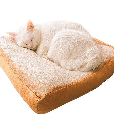 Wishdeal Cama para Gato de Forro Polar Suave 37 x 37 x 6,5 ...