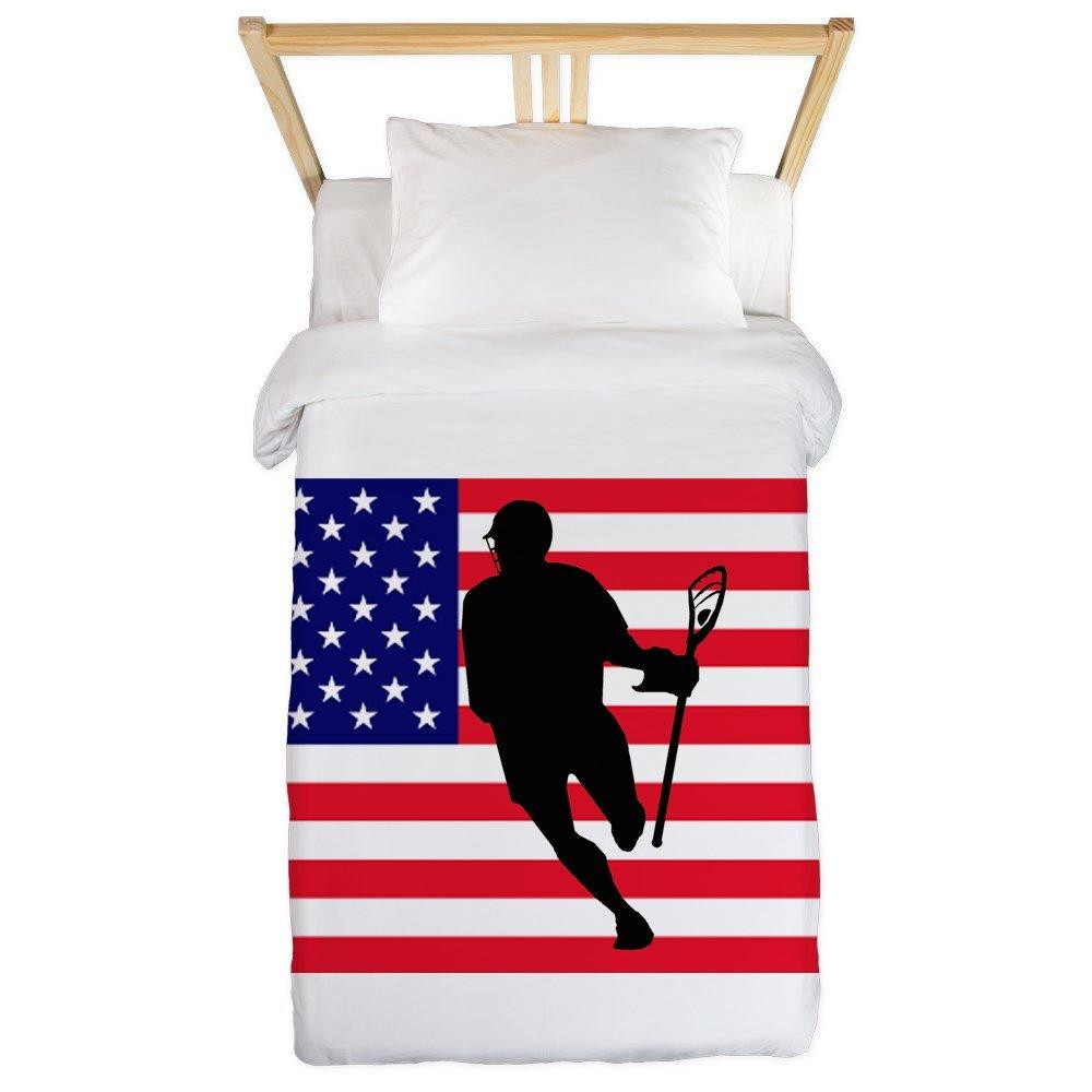 CafePress Lacrosse Flag Irock America Twin Duvet Twin Duvet Cover, Printed Comforter Cover, Unique Bedding, Microfiber
