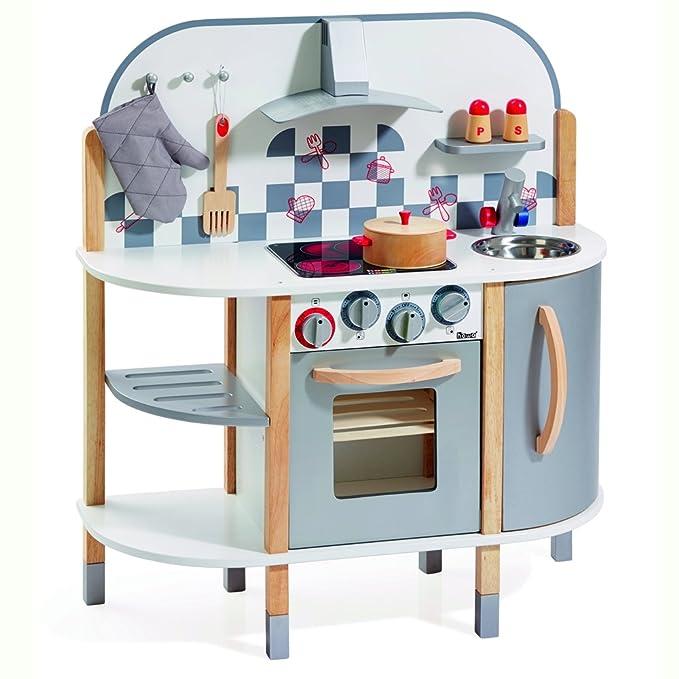howa cocinita de madera y 5 accesorios de cocina 4818