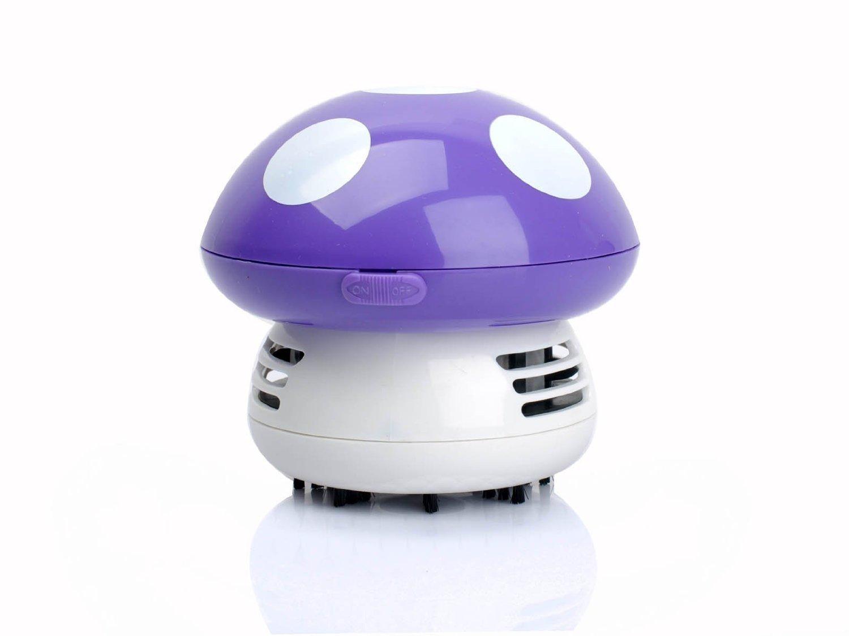 Gearmax® Mushroom Shaped New Portable Corner Desk Vacuum Cleaner Mini Cute Vacuum Cleaner Dust Sweeper