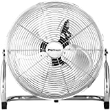 Pro Breeze 20' Chrome Gym Floor Fan with 3 Speeds and Adjustable Fan Head