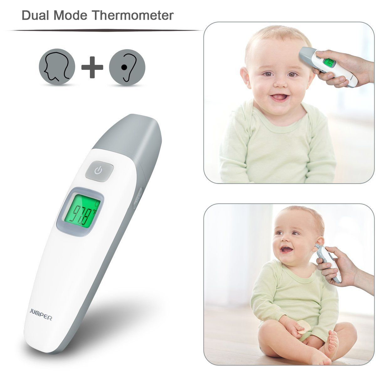 Amazon.com : Medical Digital Ear Black Thermometer, Ear Thermometer for Kids, Non Contact Infrared Digital Forehead FDA and CE Certifications ...