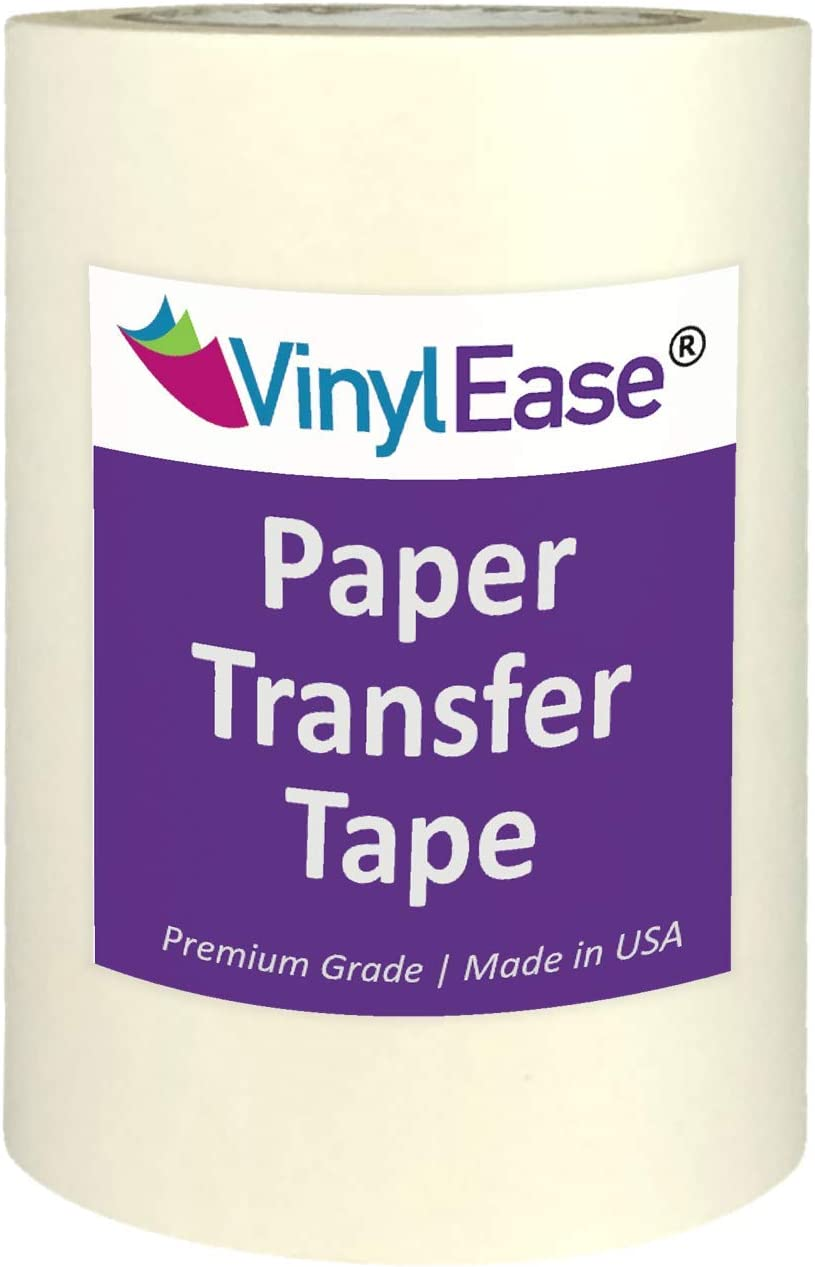 Vinyl Ease 6 inch x 100 feet roll of Paper Transfer Tape with a Medium to High Tack Layflat Adhesive. Works with a Variety of Vinyl. Great for Decals, Signs, Wall Words and More. American Made V0820: Arts, Crafts & Sewing