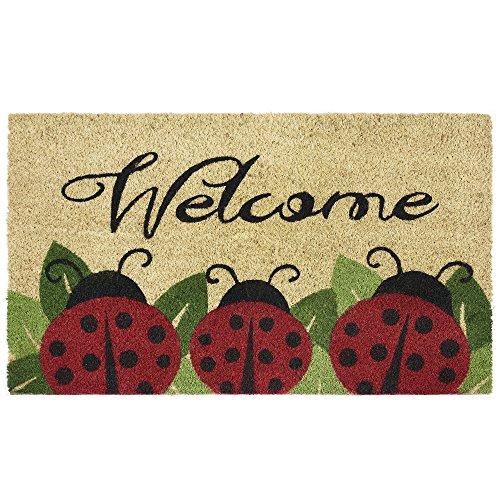 Achim Home Furnishings PCM1830LB6 Ladybug Printed Coir Door Mat 18