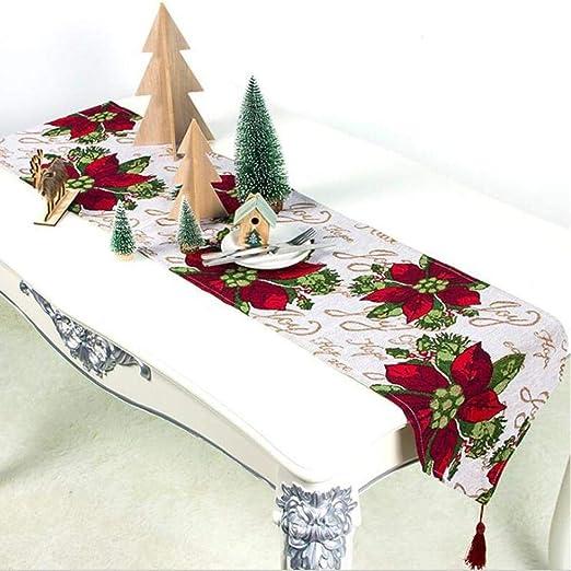 Seasaleshop Camino De Mesa Navideño Mantel De Navidad Rectangular ...