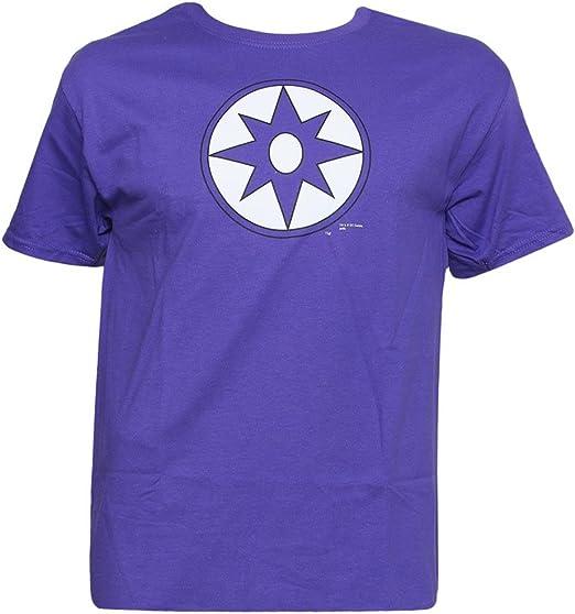 Producto oficial de DC Comics violeta símbolo camiseta: Amazon.es: Ropa y accesorios