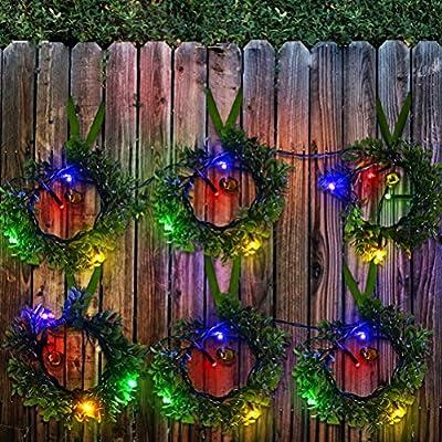 Mobestech Luces de Navidad Guirnalda de Cuerda Guirnalda Luces de Forma para Jardín al Aire Libre Camino del árbol: Amazon.es: Hogar